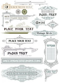 Vintage Decor Elements Free Vector