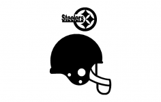 Steelers Helmet 3d dxf File