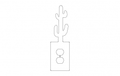 Cactus cover plate dxf File