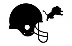Lions Helmet 3d dxf File