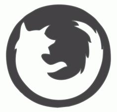 Firefox Logo DXF File