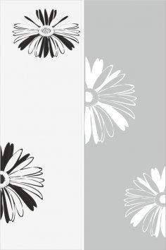 Sandblast Pattern Flowers