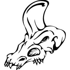 Skull 020 dxf File