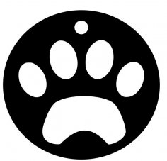 Dog Paw Opener dxf File