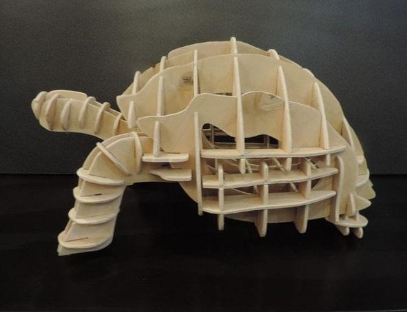 Laser Cut Turtle Template Free Vector