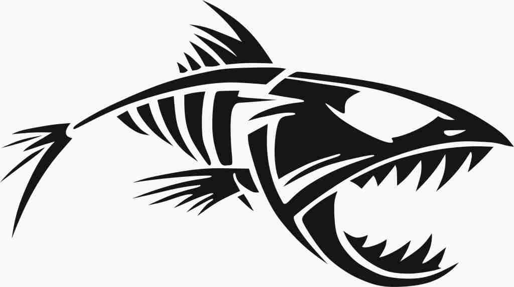 Piranha Sticker Free Vector