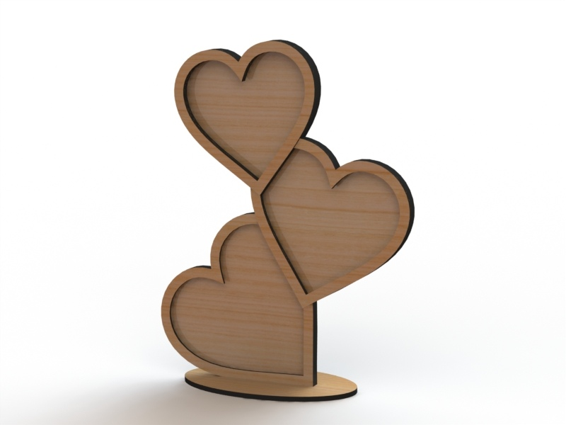 Laser Cut Heart Shape Frame Template Free Vector