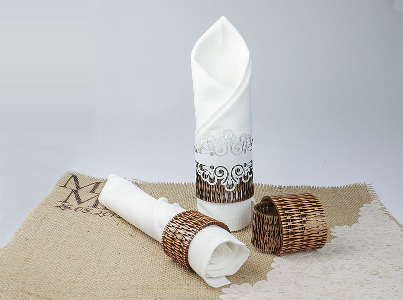 Laser Cut Napkin Ring Free Vector