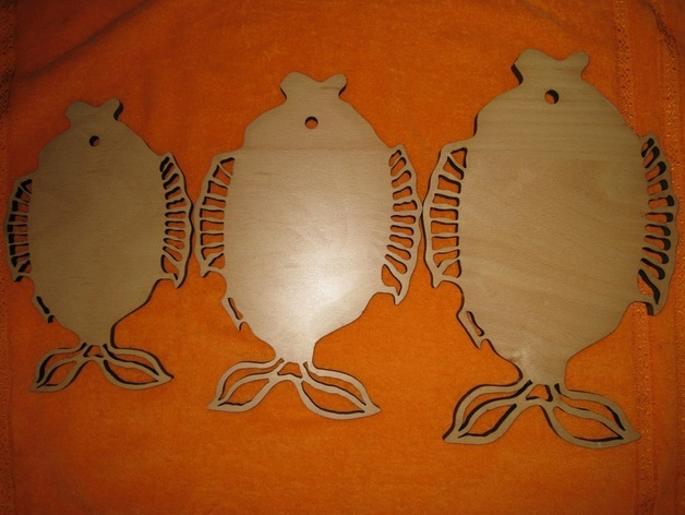 Laser Cut Decorative Fish Shaped Cutting Board Free Vector