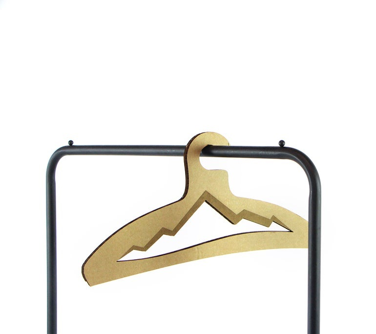 Laser Cut Mountain Clothes Hanger DXF File