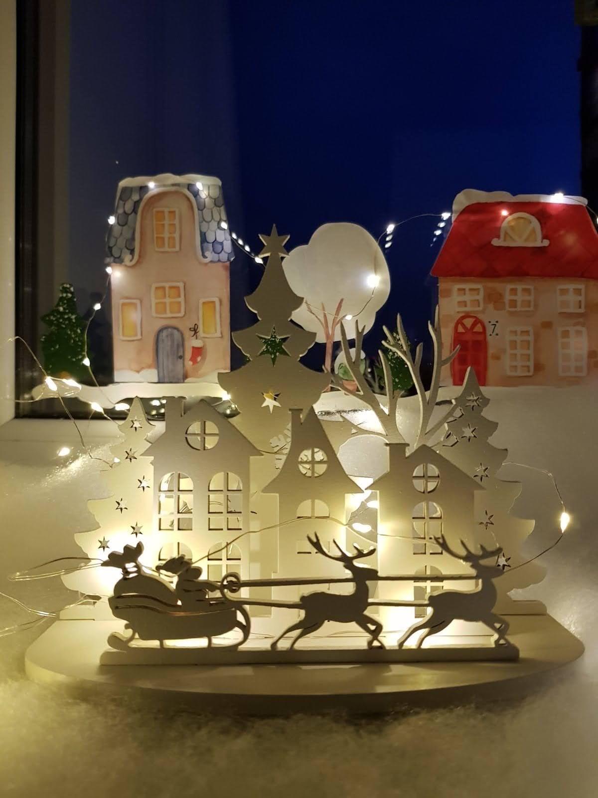 Laser Cut Christmas Mini Decoration Free Vector