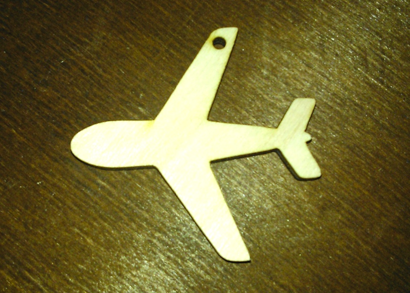 Laser Cut Airplane Plywood Free Vector