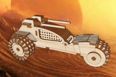 Laser Cut Dune II Raider Trike Wooden Toy Free Vector
