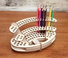Laser Cut Wood Pencil Holder Pen Stand Pencil Storage Organizer 3mm Free Vector