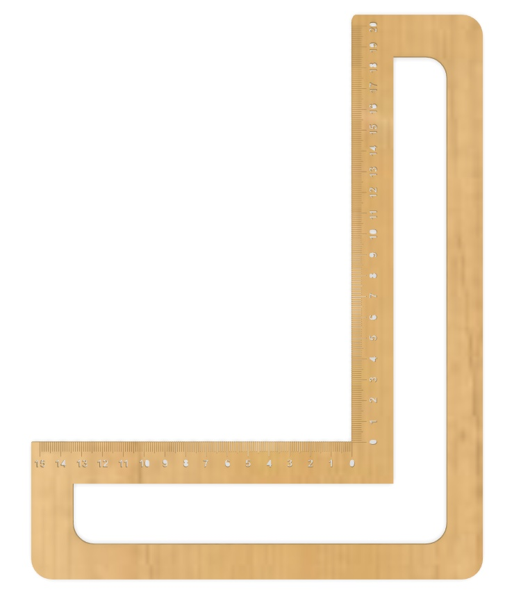 Laser Cut Try Square Ruler With Engraving Free Vector