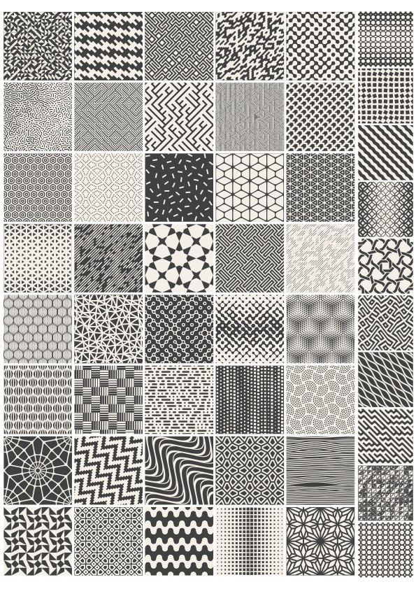 Geometric Pattern Design Vectors Set Free Vector