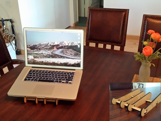 Laptop Stand Laser Cut SVG File