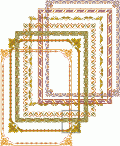 Fancy Frames and Border Set Free Vector