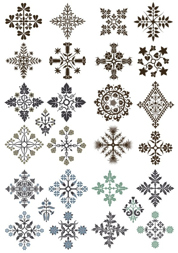 Floral Fancy Ornament Vectors Free Vector