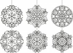 Snowflakes Set Free Vector