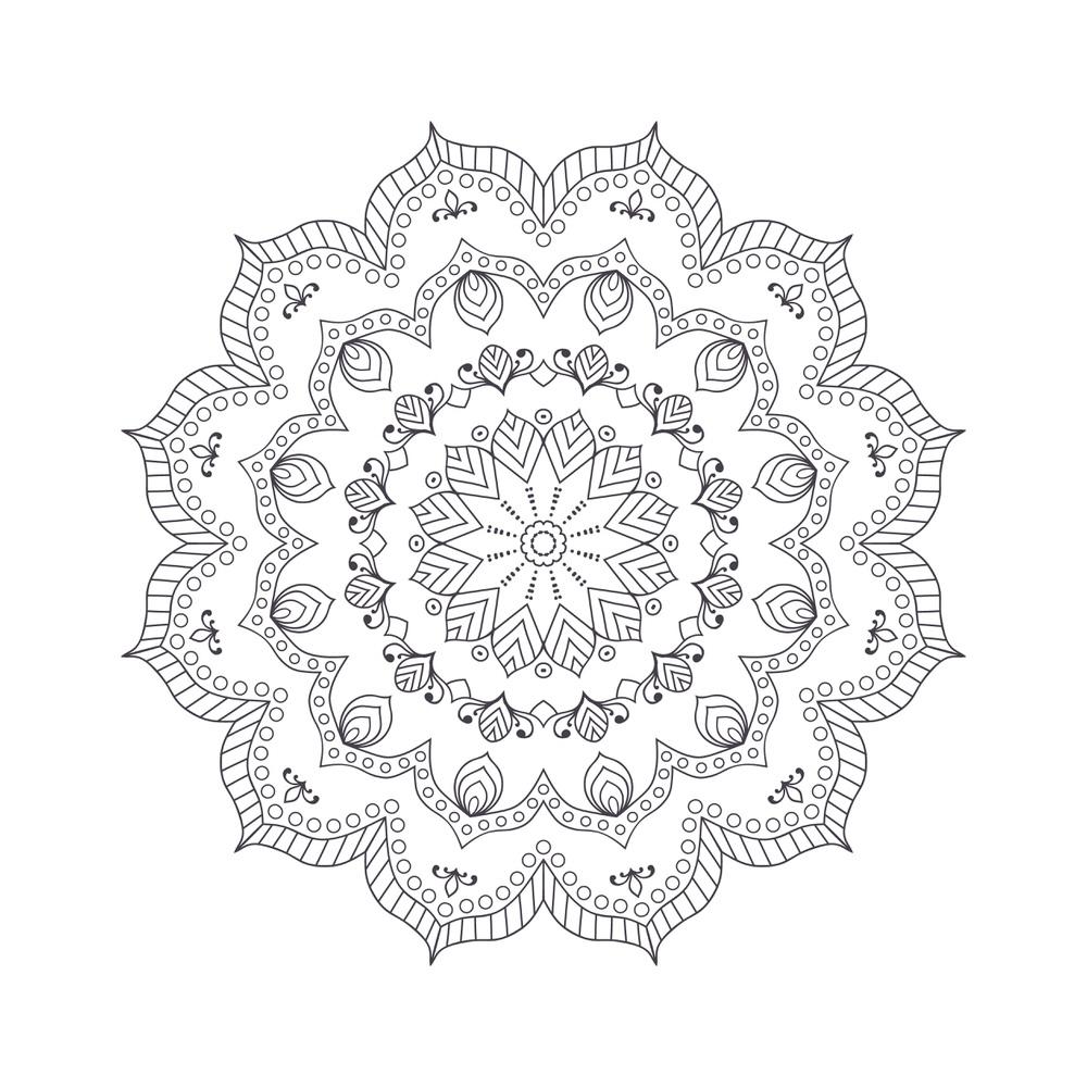Mandala For Coloring 7 Free Vector