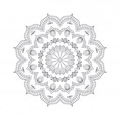 Mandala For Coloring 7 EPS File