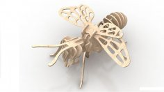 Bee 3mm Insect 3D Wood Puzzle DXF File