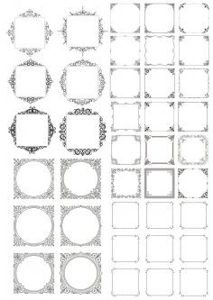 Decor Frame Vectors Set Free Vector