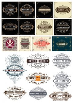 Vintage Label Vector Set Free Vector