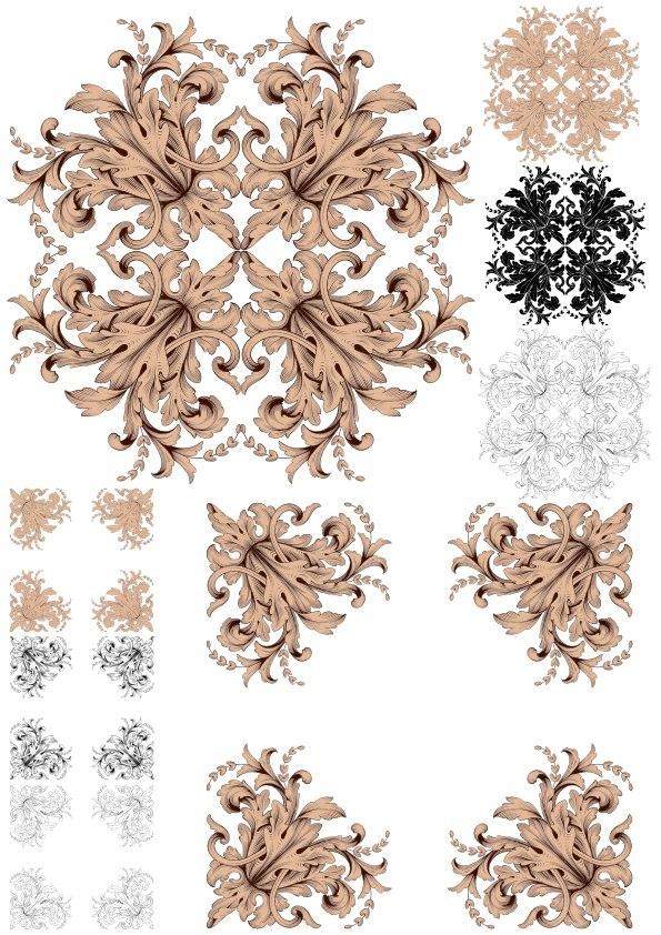 Ornament Vector Baroque Pack Free Vector