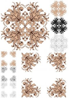 Ornament Vector Baroque Pack Free Vector