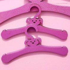 Laser Cut Dog Puppy Pet Clothes Hanger Free Vector