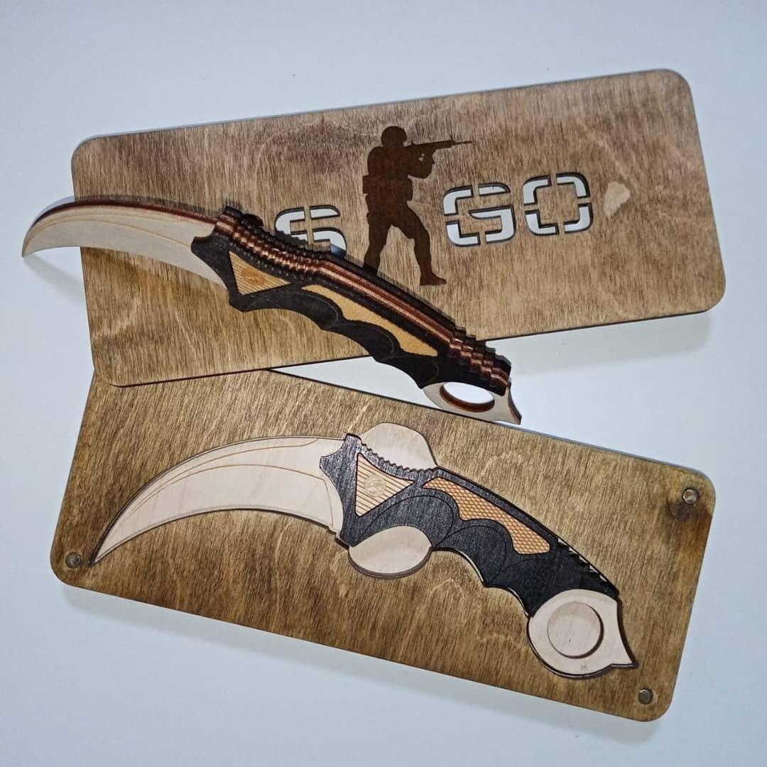 Laser Cut Karambit Knife CSGO Toy Free Vector
