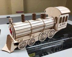 Laser Cut Steam Train Gift Box DXF File