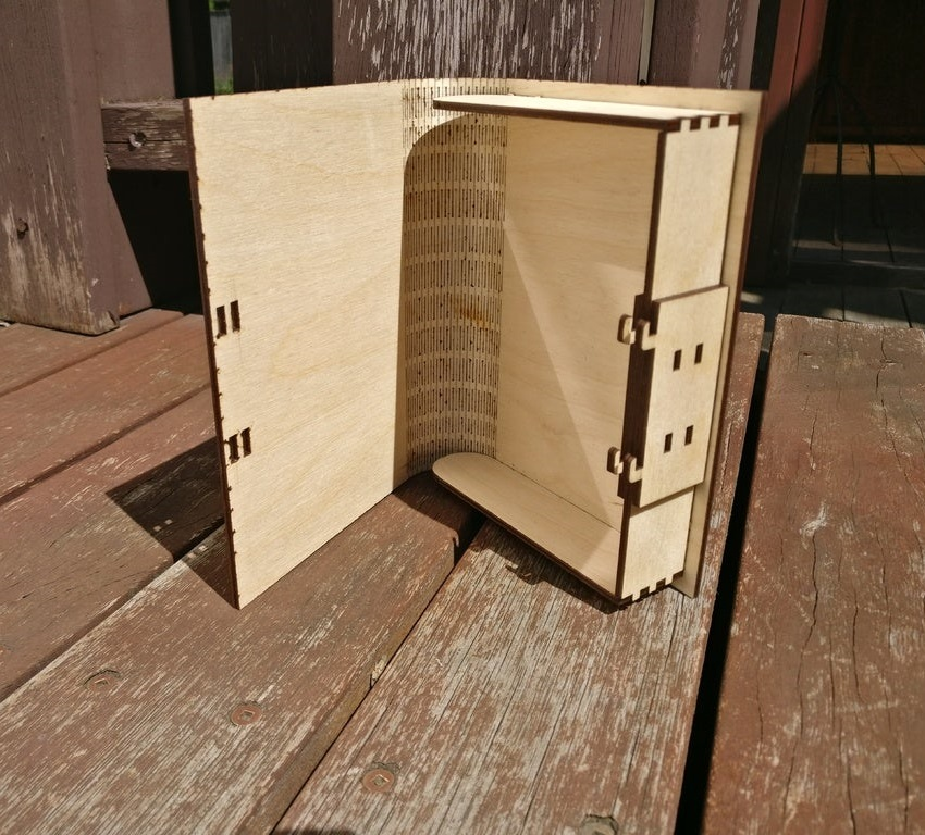 Laser Cut Book Box With Latch 3mm SVG File