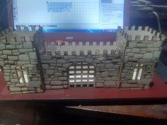 Laser Cut Castle Fortress Pen Pencil Holder Desk Organizer Free Vector