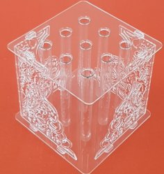 Laser Cut Glass Test Tubes Flower Stand Free Vector