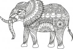 Elephant Black Vector Free Vector