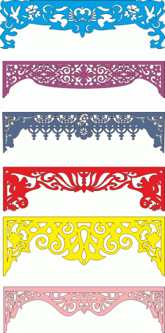 Laser Cut Arch Designs and Patterns Free Vector