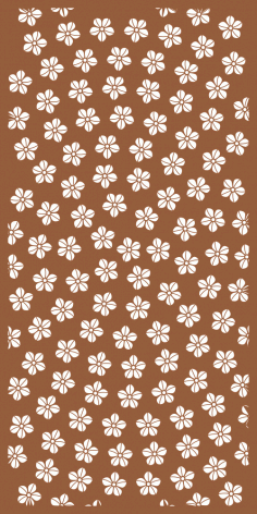 Floral Decor Screen Panel Pattern Free Vector
