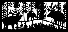 28 X 60 Elk Bear And Moose Plasma Art DXF File
