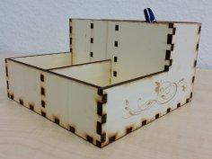 Writing Utensils Organizer Box Laser Cut Template SVG File