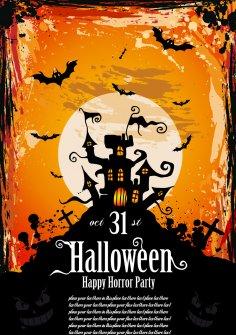 Halloween Party Flyer Free Vector