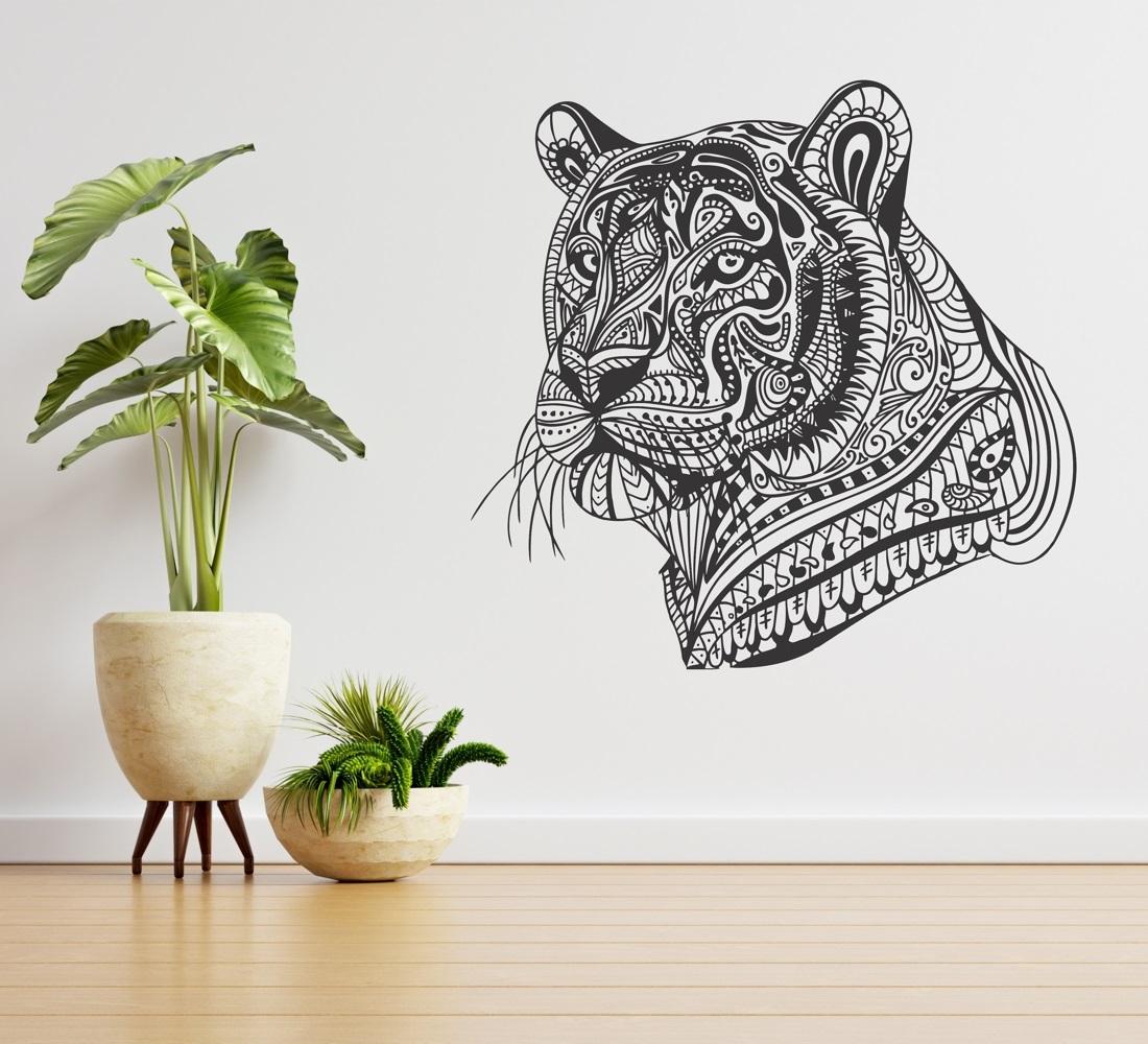 Laser Cut Tiger Wall Decor Free Vector