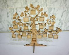 Laser Cut Tree Photo Frame Template Free Vector