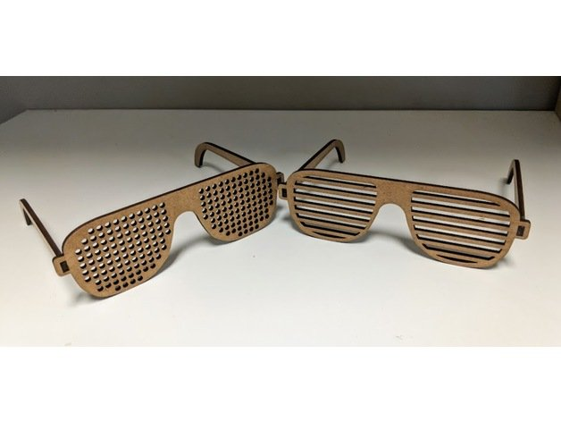 Laser Cut Wooden Glasses Template Free Vector
