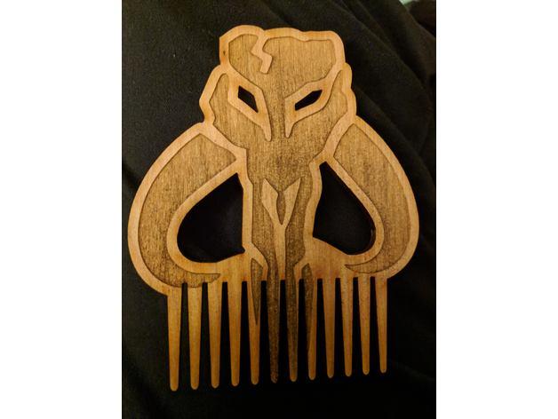 Laser Cut Beard Comb DXF File