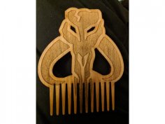 Laser Cut Beard Comb DXF File