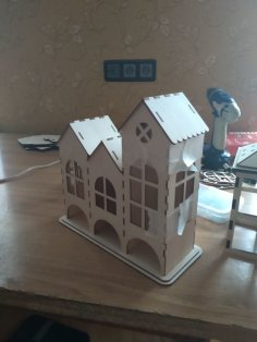 Laser Cut Tea House, Tea Holder Box Template Free Vector