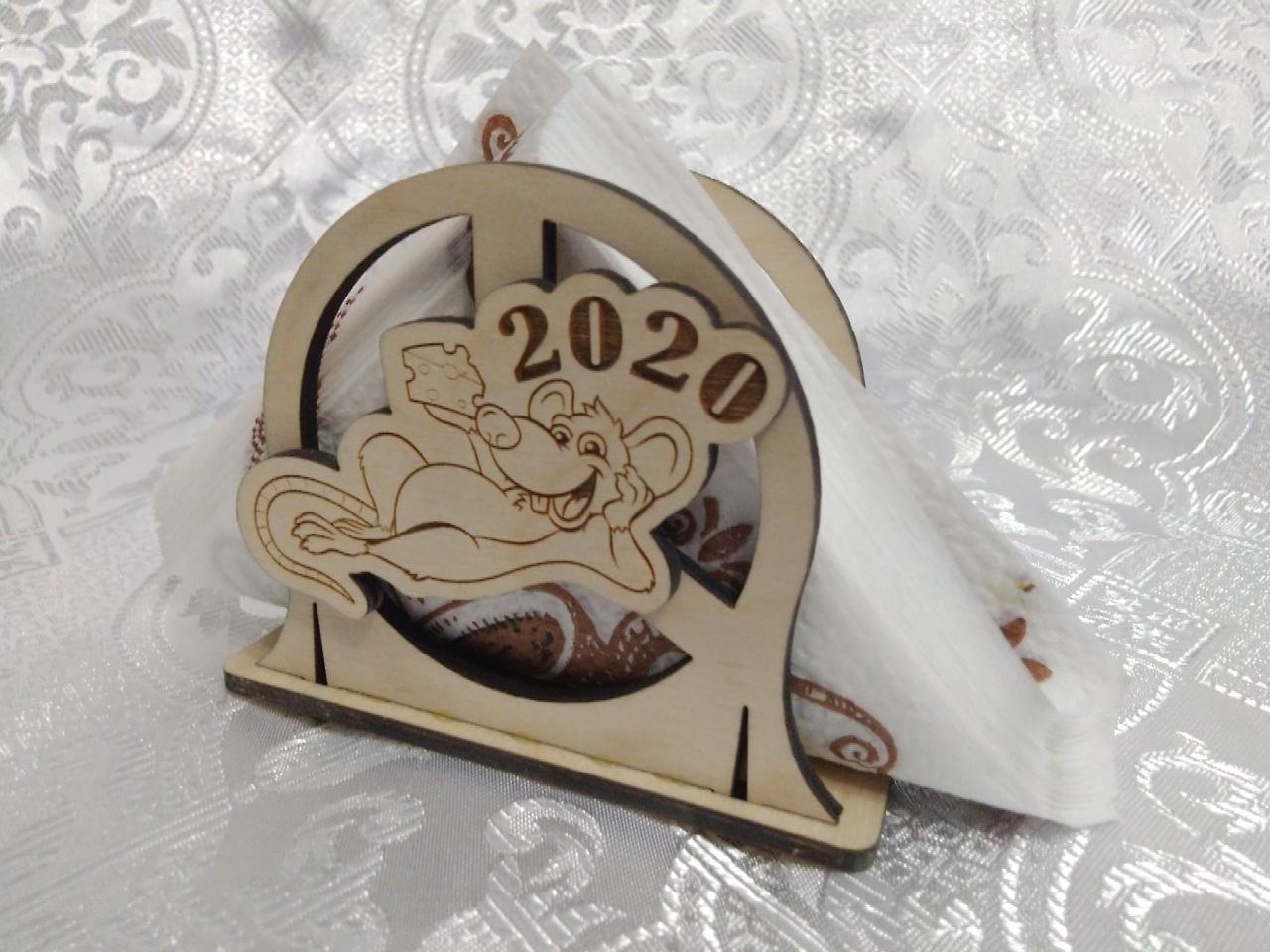 Laser Cut Standing Napkin Holder 2020 Free Vector